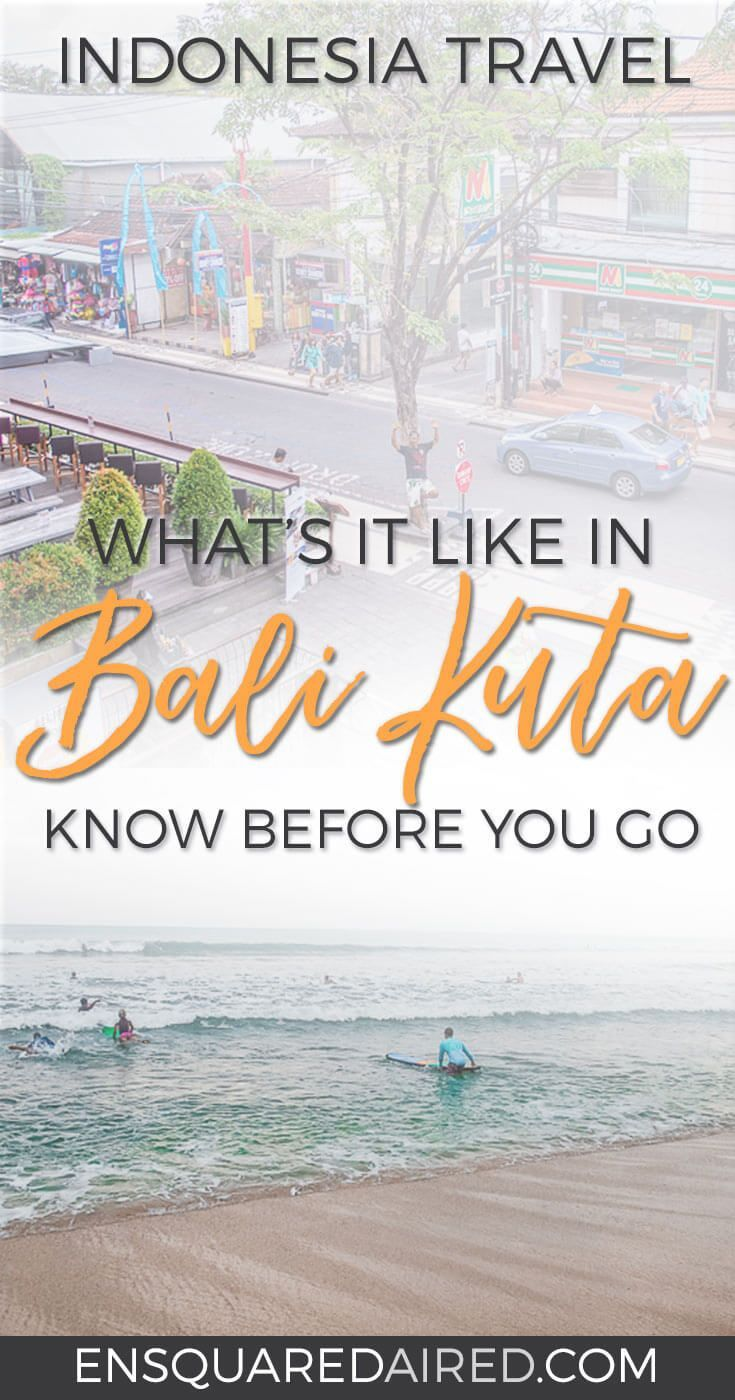 Surprisingly Mellow Stay In Bali Kuta | Kuta, home to one of the main beaches in Bali, is often regarded as a crazy and over developed tourist destination on the island. However, we were able to relax and enjoy our stay there. #kuta #bali Beach travel | l