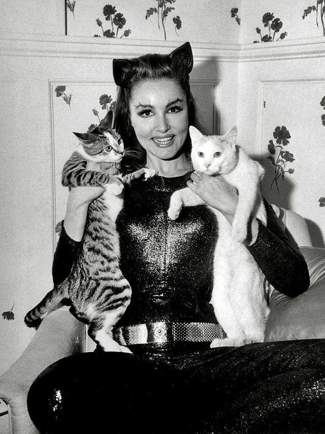 The OriginalCatwoman,Julie Newmarand pals.Batmantv series, 1966-1968.