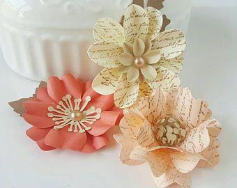 Fleurs en papier - matin d'automne - Scrapbooking - carte faisant - carte Candy - papier embellissements - embellissements de fleurs
