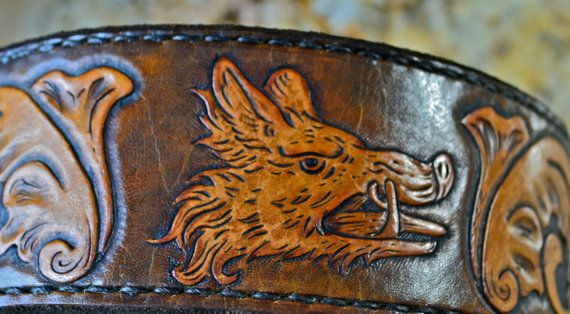 2.5 inch Heavy Duty Boars head leather tooled by TMPLeatherworks