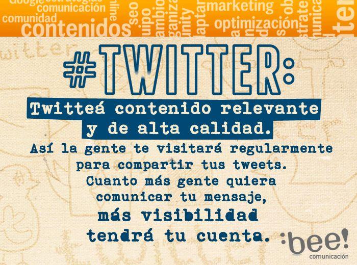 Hoy te acercamos un #beetip para tu perfil de #Twitter!