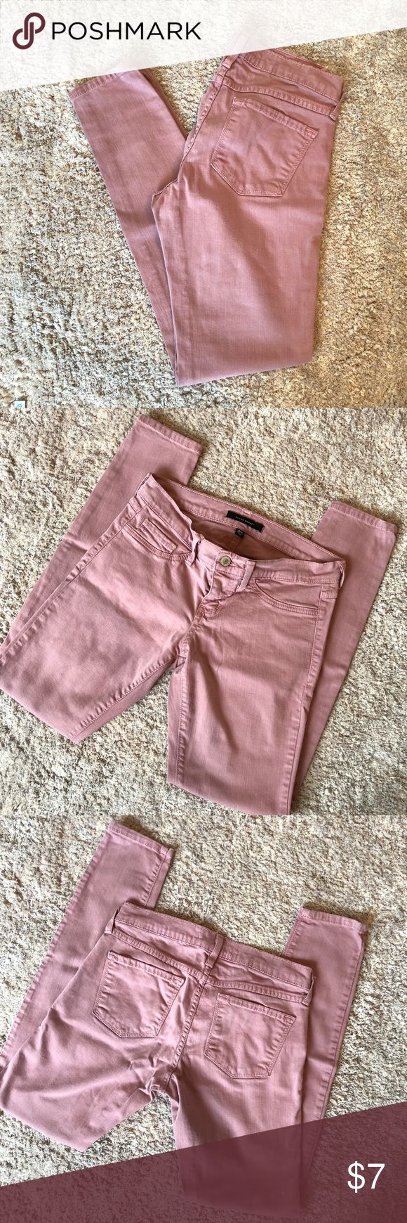 Pink Flying Monkey Jeans! Fantastic rose colored Flying Monkey skinny jeans! Only worn a few times and in great condition! 27 inch waist, 30.5 inch inseam, and 7.5 inch rise. NO trades NO PayPal. Bundle for additional discounts! Flying Monkey Jeans Skinny