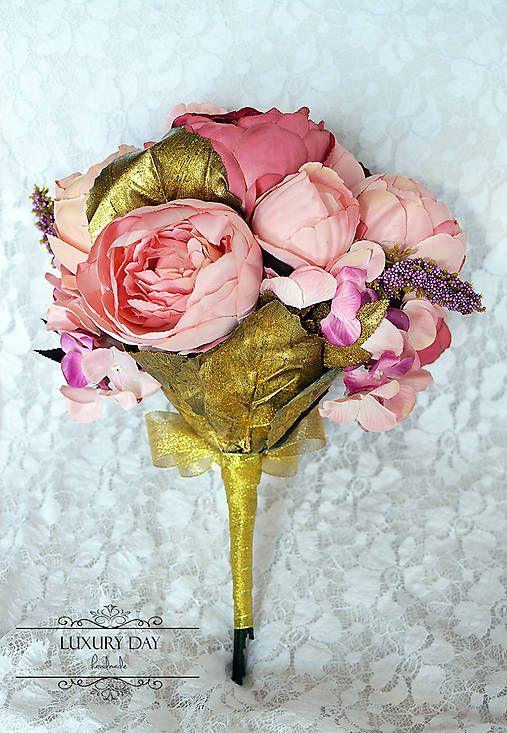 wedding bouquet - gold edition