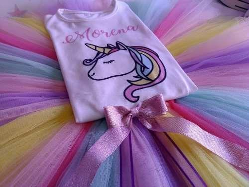 53598a12b Melinterest Argentina. Disfraz Unicornio Set Tutu Y Remera O Body ...
