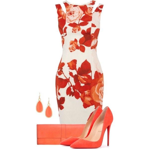 Blooming by cris-1121 on Polyvore featuring moda, Karen Millen, Christian Louboutin, Danielle Foster and Nordstrom Rack