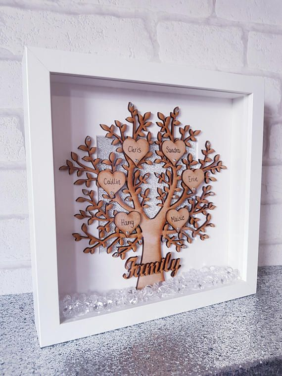 Wooden Family Tree Frame Wooden Family Tree Family Tree