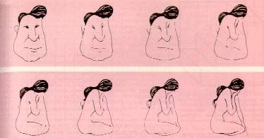 Some of you might see this as a face of a man with an uncommon hairstyle but on a closer look you will see that it is not a face of a man rather it is a girl which is sitting with her face hidden that is she is showing her back of head. See carefully