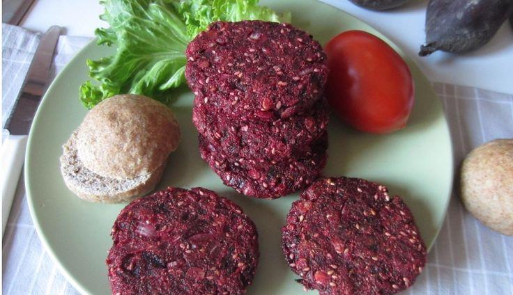 hamburger di barbabietola