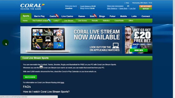 Sports betting → CORAL bookmaker review