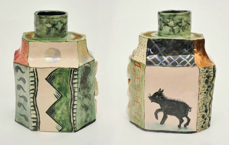 Black Boar & Deco Print Caddy in Dan Rizzie Collage             from Wilson Stephens & Jones