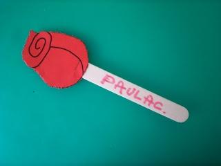Sant Jordi: Rosa per a P2 (punxar)