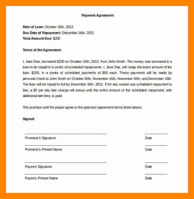 Installment Payment Agreement Template Luxury 12 Installment Payment Agreement Template Car Payment Payment Agreement Contract Template