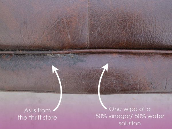 Sectional Sofas the best way to clean leather is a vinegar water solution u ingredients I happen to already own Total cost to clean the couch Zero