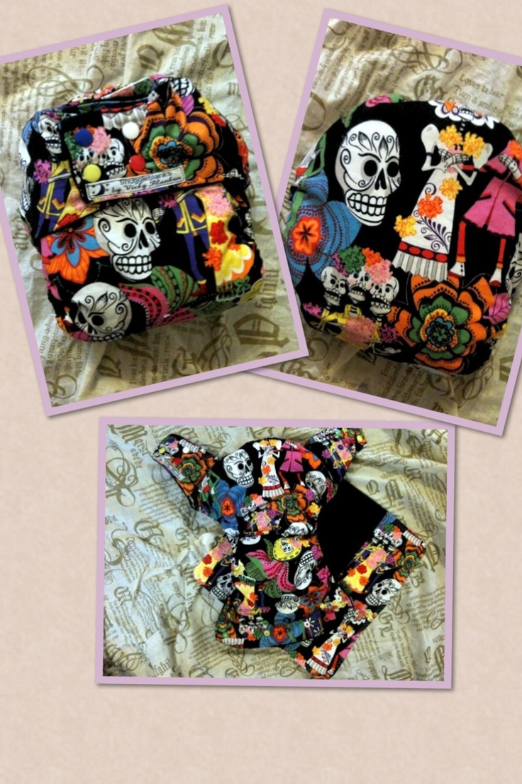 Day of the dead night nappy.