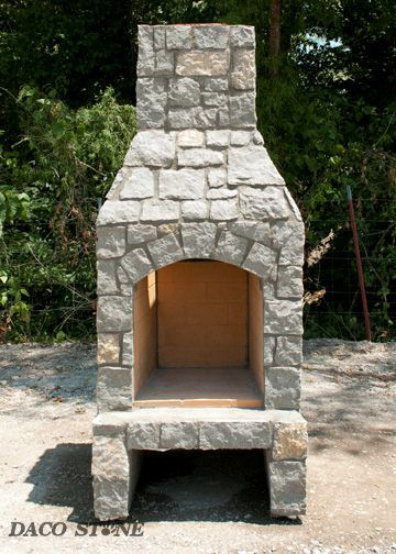 Outdoor fireplace kit 24""