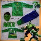 Kostum Anak Superhero pembela kebenaran – Hulk Makhluk hijau Baju Setelan Anak kostum masa kini yang disukai anak anak Segera hubungi 081288344514 ( sms / wa ) atau invite pin 24E4B6DA