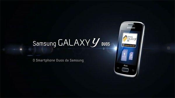 Publicidad Samsung Galaxy Y DUOS