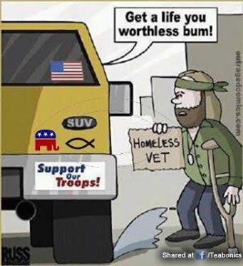 Not one  Republican voted for the Veterans Job Act, not one. Where is the love for our vets...the GOP loves war...loves to make vets....loves to spend on defense....then forgets those who have given up so much...sometimes everything....please support a vet today!!!!