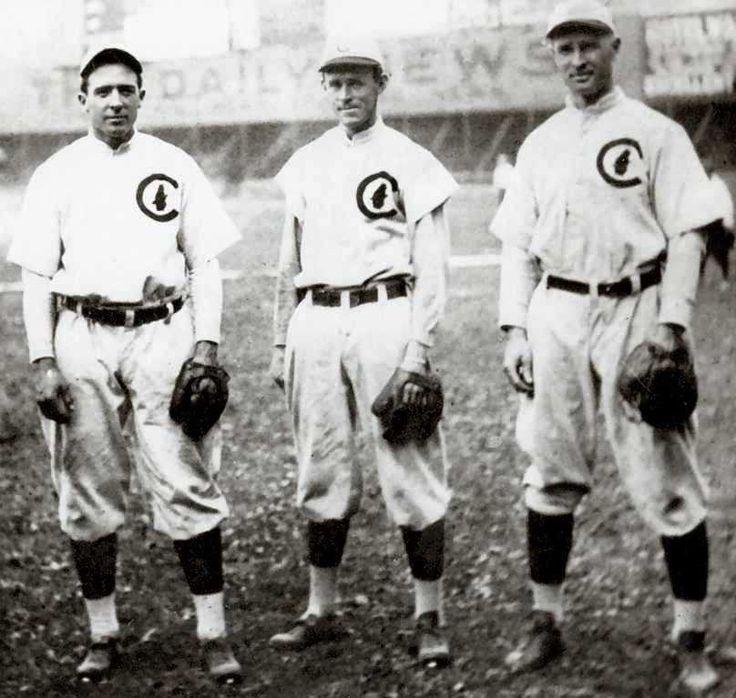 Joe Tinker, Johnny Evers, and Frank Chance