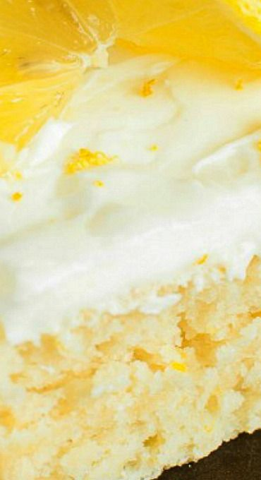 Lemon Sheet Cake with Lemon Cream Cheese Frosting