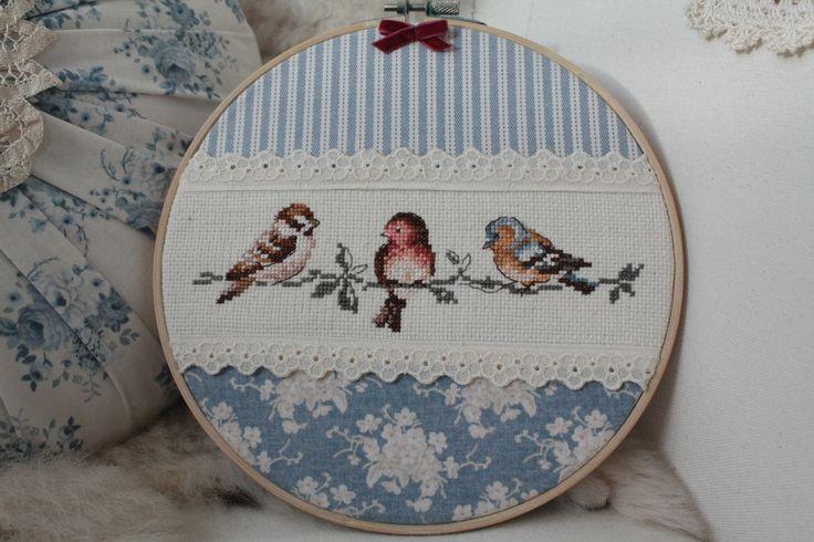 Vidám kék madárkás kép (serendipity22) - Meska.hu