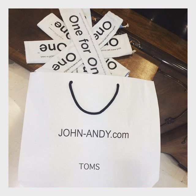 With every #product you #purchase, #TOMS will help a #person in need. One for One.® #johnandy