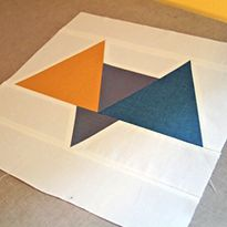 MODERN Block of the Month (September) -- White, Navy Blue, Green. Chocolate, Colonial Blue, Sapphire, Navy. -- SIL. -- from SewMamaSew.com