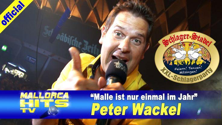 """Peter Wackel - live beim Schlager Stadel XXL mit """"Scheiss drauf! Malle ist nur einmal im Jahr"""". Der Kracher am Ballermann und von den Ballermann Hits / Apres Ski Hits. http://MallorcaHitsTV.de"""