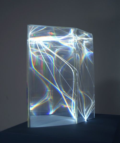 CARLO BERNARDINI, LIGHT CATALYST 2002, Model, plexiglass and optical fibers (1,5 mm of diameter) feet h 2x1,5x1.