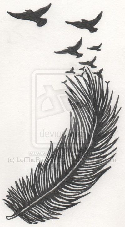 feather turning into bird tattoo - Google Search