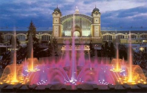 Filling up our night in Prague.  Krizik Singing Fountain