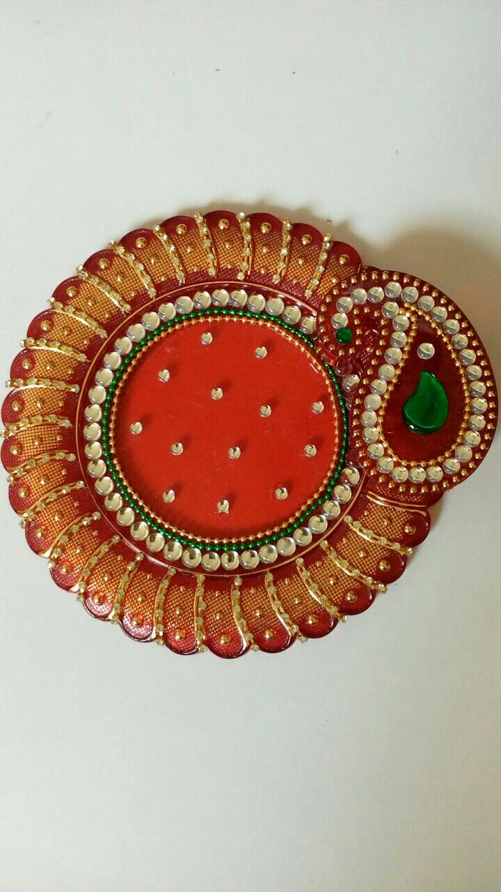 2018 best images about rangoli kolams on pinterest for Aarti thali decoration with kundan
