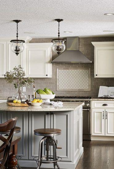 Kitchen Ideas, Kitchen Design Ideas, Grey and white kitchen, grey