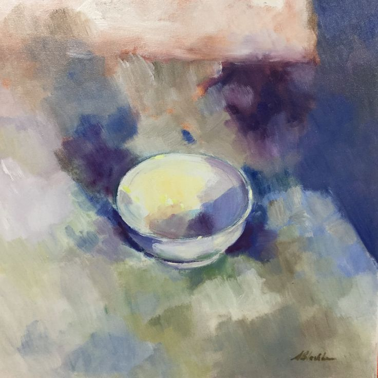 The Blue Bowl –  Oil on canvas PLATFORMstore