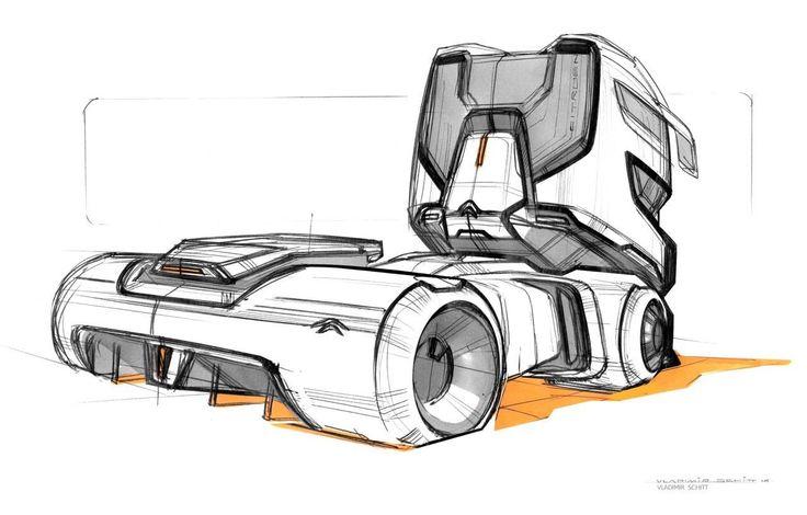 Citroen Truck sketch by Vladimir Schitt