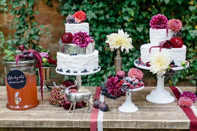 Dessert table   Julia Winkler Photography   see more on: http://burnettsboards.com/2014/11/berry-autumn-wedding-inspiration/
