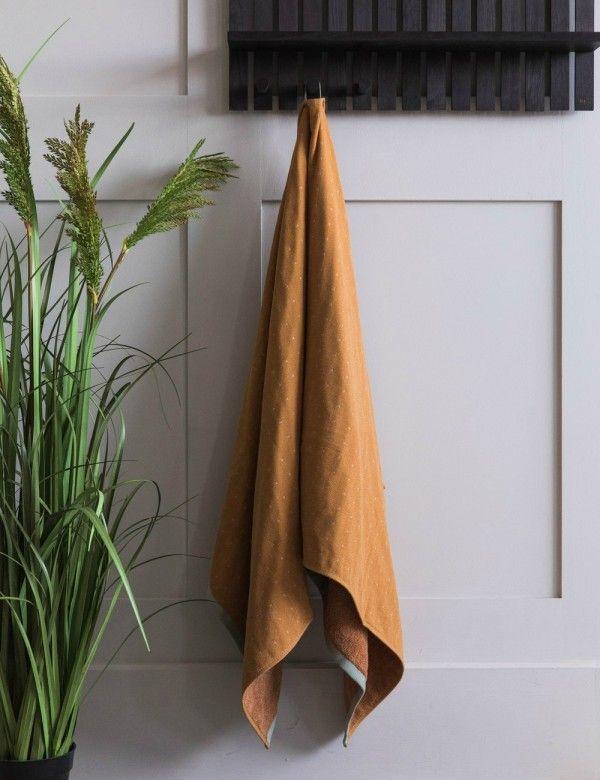 Ferm Living Mustard Bath Towel Mustard Bath Bath Towels Vintage Contemporary Furniture