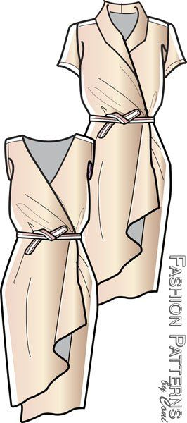 Wrap Dress, Butterick pattern available in 2013