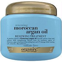 Organix Renewing Moroccan Argan Oil Treatment. Within a few minutes, this product rescues my hair. Sulfate free and one of Organix's best products.