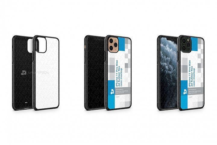 Download Iphone 11 Pro Max 2019 2d Rubber Flex Case Mockup Angled 363506 Mockups Design Bundles Iphone 11 Mockup Mockup Design