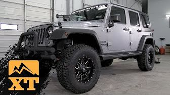 4 Inch Lift vs Stock with 35 Inch Tires, Articulation Offroading with Jeep Wrangler JK - YouTube