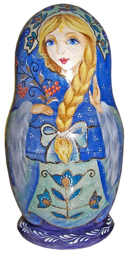 Matryoshka - Russian nesting doll. #folk #art #Russian #dolls