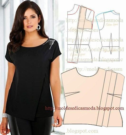 Блузка своими руками из ткани