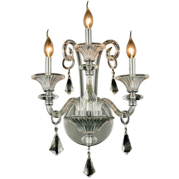 """Aurora Collection Wall Sconce W:19"""" H:20"""" E:11"""" Lt:3 Chrome Finish"""