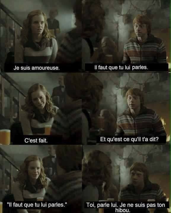 """Blagues Harry Potter , Moi A ce moment : je rigole fort et je dis """"MAIS MEC ! ELLE PARLE DE TOI ! C PAS POSSIBLE LES MEC COMME SA !"""""""
