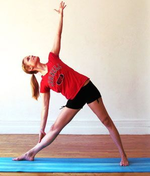 triangle  lean legs yoga poses leg workout