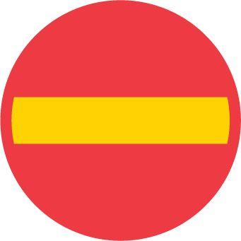 C1 – Förbud mot infart med fordon