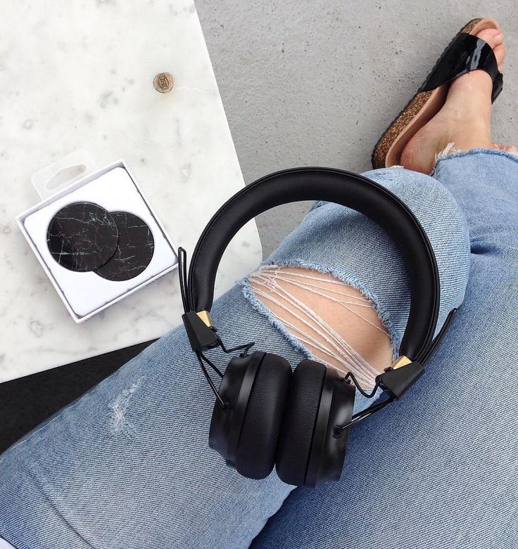 Make a statement. Black Regent headphones with black marble caps from Sudio Sweden #SudioMoments @heydjuce