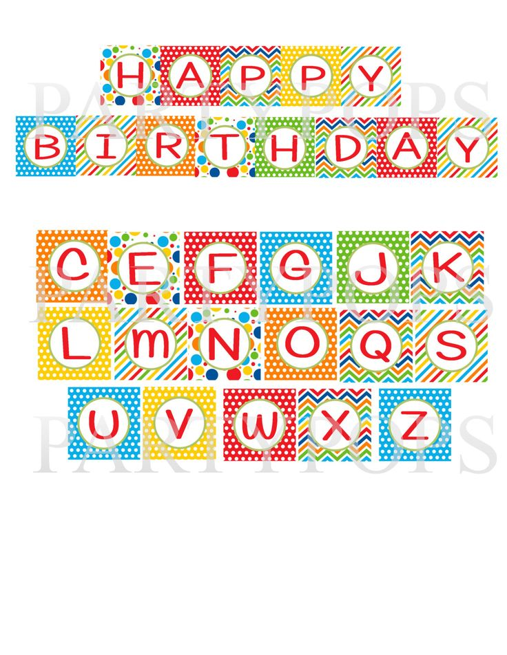 happy birthday letter banner 194 best images about banderines on blank 8105