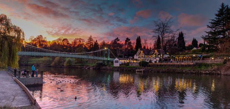 Porthill Bridge and the Boathouse, Shrewsbury